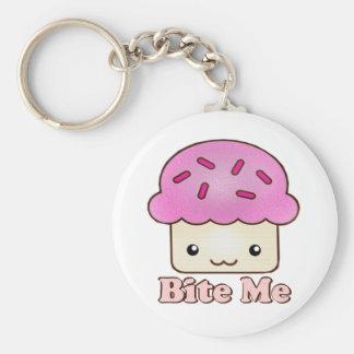 Bite Me Cupcake Keychains