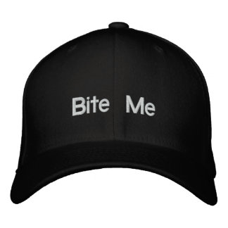 Bite Me Embroidered Hat