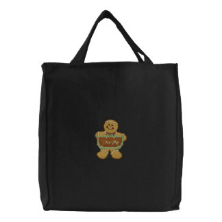 Bite Me Gingerbread Canvas Bags