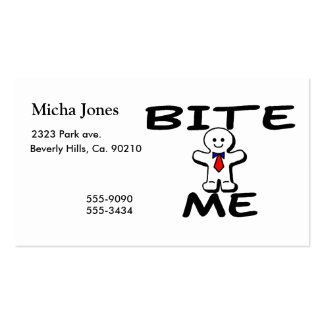 Bite Me Gingerbread Man Business Card Template