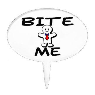 Bite Me Gingerbread Man Cake Topper