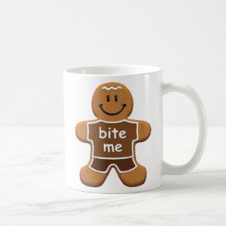 Bite Me Gingerbread Man Mug