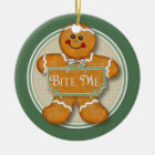 Bite Me Gingerbread Man Ornament 2