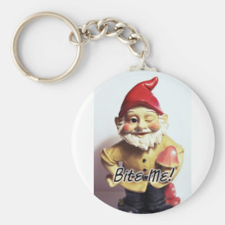 Bite Me Gnome Key Ring