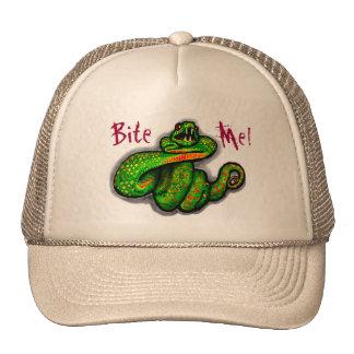 Bite Me! guys hat, snake bite, boyfriend gift Cap