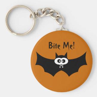 Bite Me Halloween Bat Key Ring