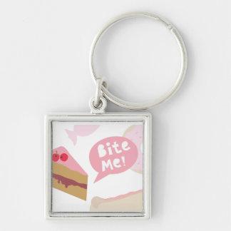 Bite me Love cake Keychain