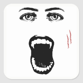 Bite Me Vampire Halloween Stickers
