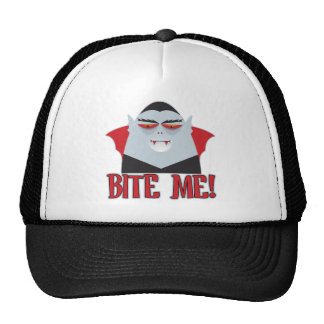 Bite Me Vampire Trucker Hats