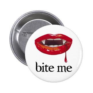 Bite Me Vampire Pin