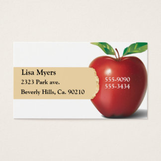 Bite Of Apple Business Card