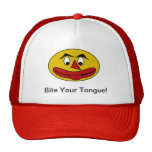Bite Your Tongue Funny Yellow Face