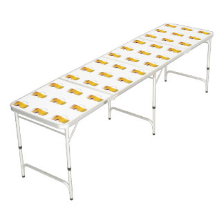 Biting Beer Glass, Beer Pong Folding Table. Pong Table