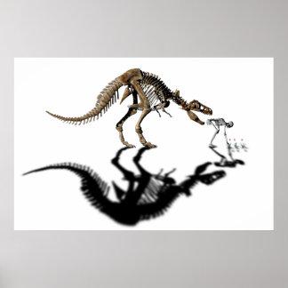 Biting dinosaur poster