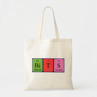 Bits periodic table word tote bag