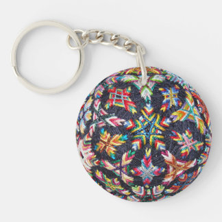 Bits Sakasa Temari Keychain, Acrylic Key Ring