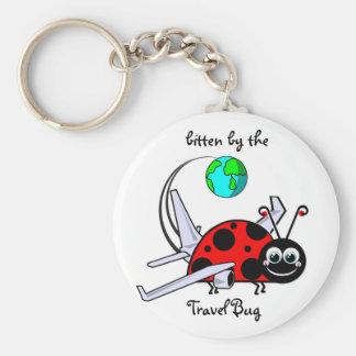 Bitten By The Travel Bug - Ladybug Airplane Key Ring