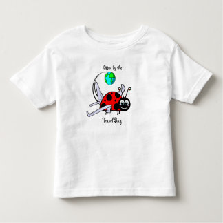 Bitten By The Travel Bug - Ladybug Airplane Toddler T-Shirt