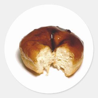 Bitten donut classic round sticker
