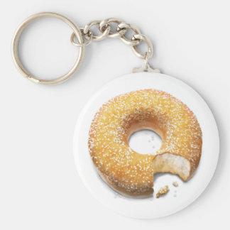 Bitten Sugared Doughnut/Donut Key Ring