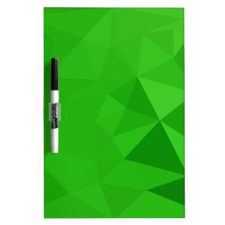 Bitter Lemon Green Abstract Low Polygon Background Dry Erase Board