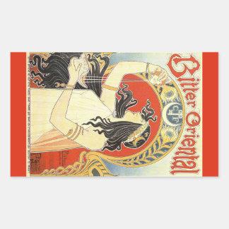 """""""Bitter Oriental"""" Vintage Ad stickers"""