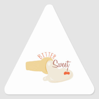 Bitter Sweet Triangle Stickers