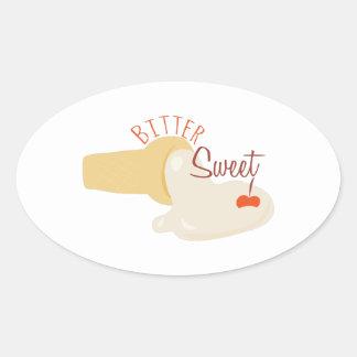 Bitter Sweet Oval Sticker
