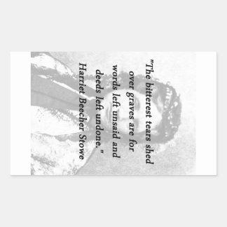 Bitterest of Tears - Harriet Beecher Stowe Rectangular Sticker