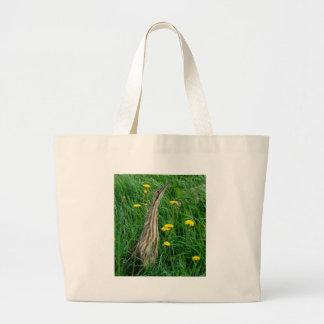 Bittern, northern Ontario water bird Large Tote Bag