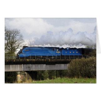 """Bittern"" Old Steam Train Locomotive Greeting Card"