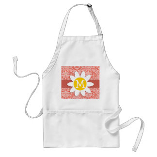 Bittersweet Color Damask Pattern; Daisy Adult Apron