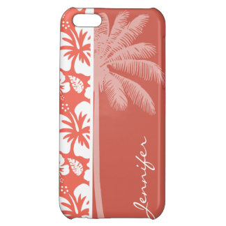 Bittersweet Color Tropical Hibiscus; Summer Palm Case For iPhone 5C