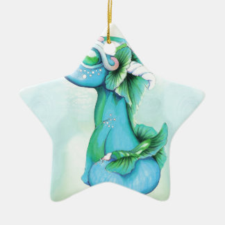 Bitty Water Dragon Ceramic Ornament