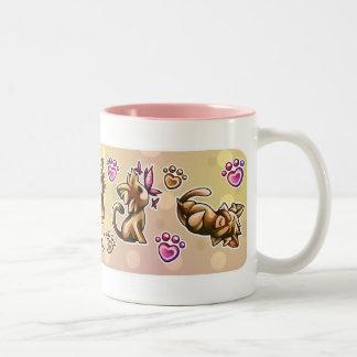 BittyKitty Two-Tone Coffee Mug