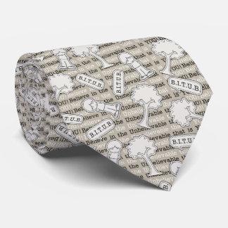 BITUB Pattern (Believe in the Unbelievable) Tie
