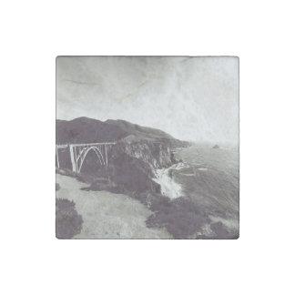 Bixby Bridge, Big Sur, California USA Stone Magnet