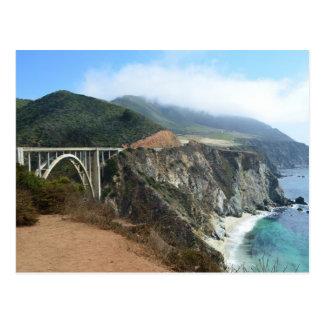 Bixby Bridge on California's Big Sur coast Postcard