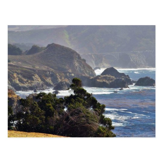 Bixby Bridges Ocean Coastlines Postcard