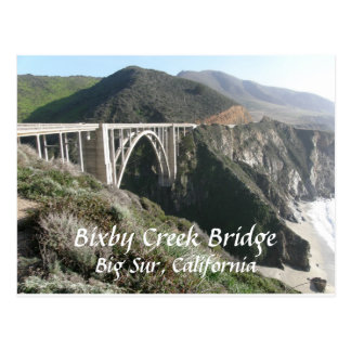 Bixby Creek Bridge, Big Sur, California Postcard