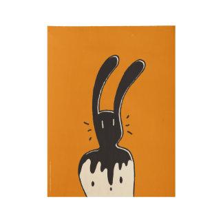 BixTheRabbit Wood Poster