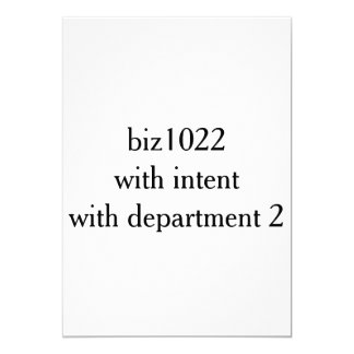 biz1022 with intent department2 card