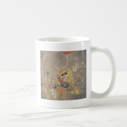 Bizarre Ancient Japanese Painting of Demons Coffee Mug