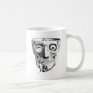 Bizarre Skull Muscles Face Basic White Mug