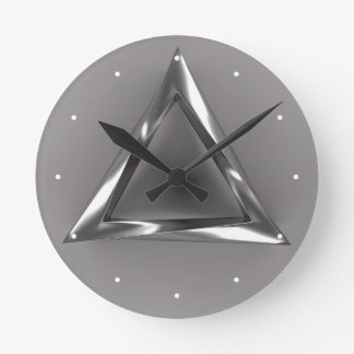 Bizarre Triangle Round Clock