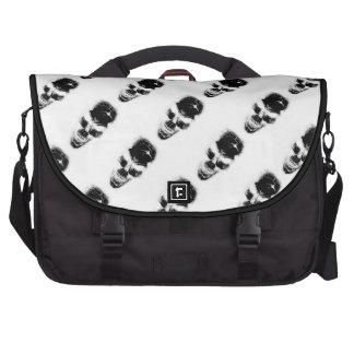 BizzareWorld B&W Skull Laptop Shoulder Bag