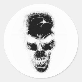 Bizzareworld B&W Skull Stickers