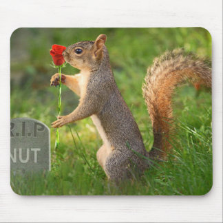 BizzareWorld Mourning Squirrel Mouse Pad