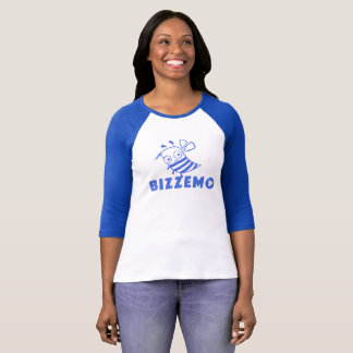 Bizzemo Women's Logo Ragland (Blue) T-Shirt