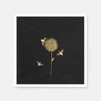 Bizzy Bees on a Dandelion Paper Napkins Paper Napkin